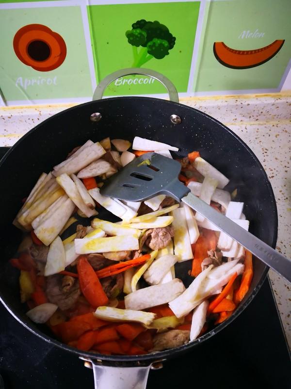 菠萝杏鲍菇炒的简单做法