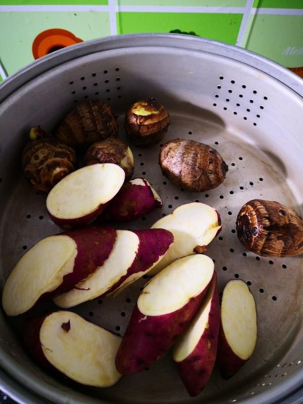 清蒸芋头红薯的家常做法