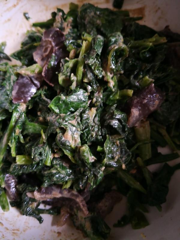 菠菜拌海参怎么吃
