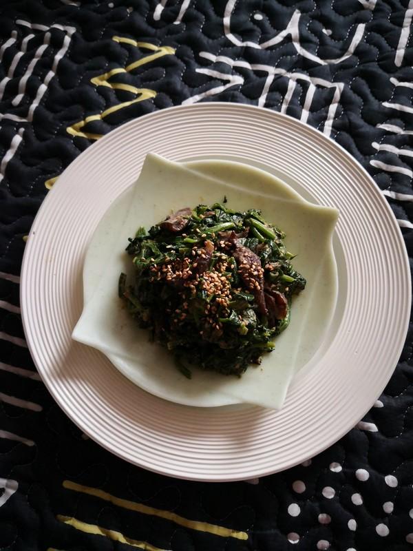 菠菜拌海参怎么做