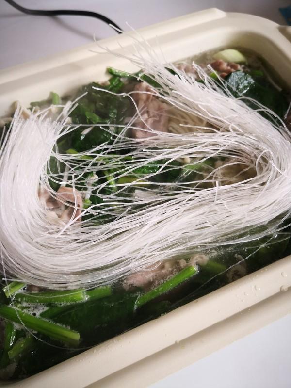 菠菜粉丝羊肉片怎么煮