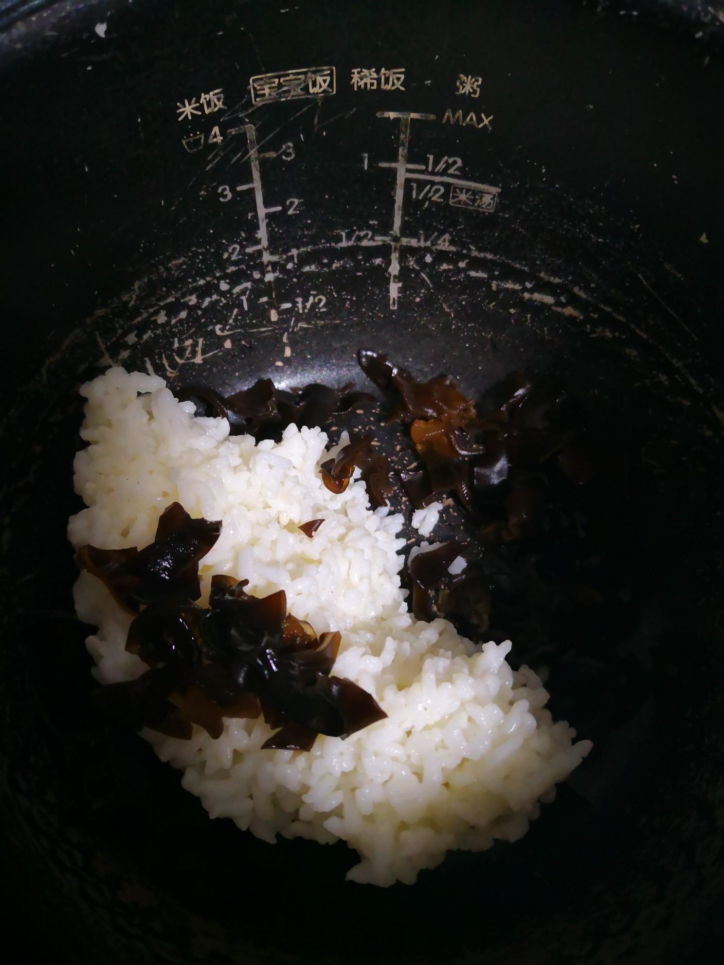 木耳鲜虾粥的家常做法
