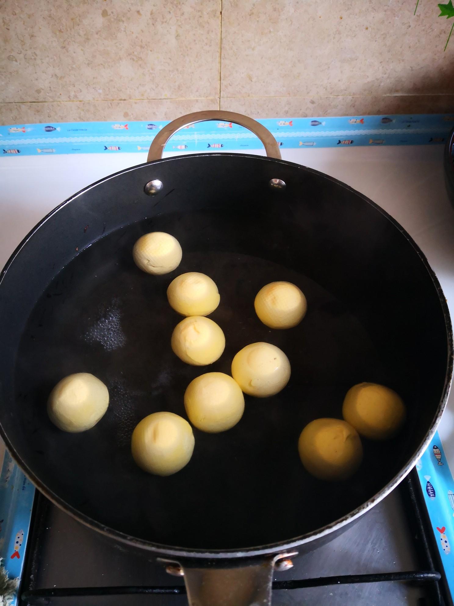 大黄米汤圆的步骤