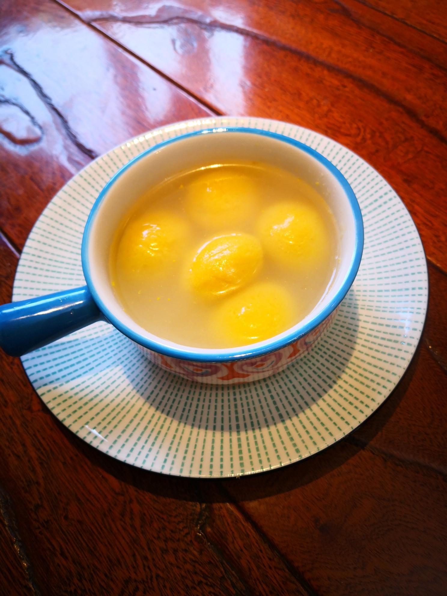 大黄米汤圆成品图
