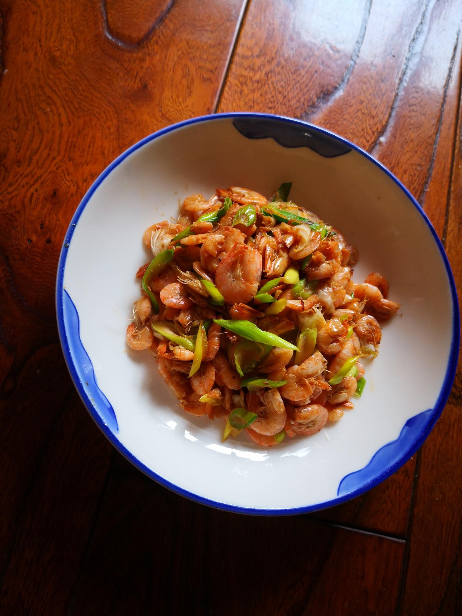 葱香小海虾怎么炒