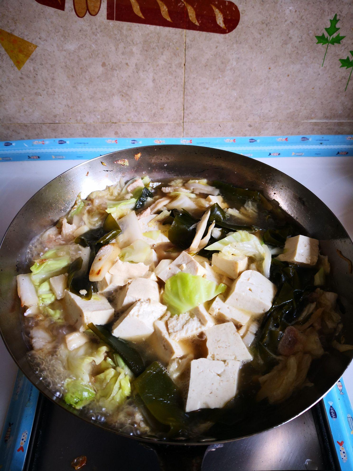 海带炖豆腐怎么炖