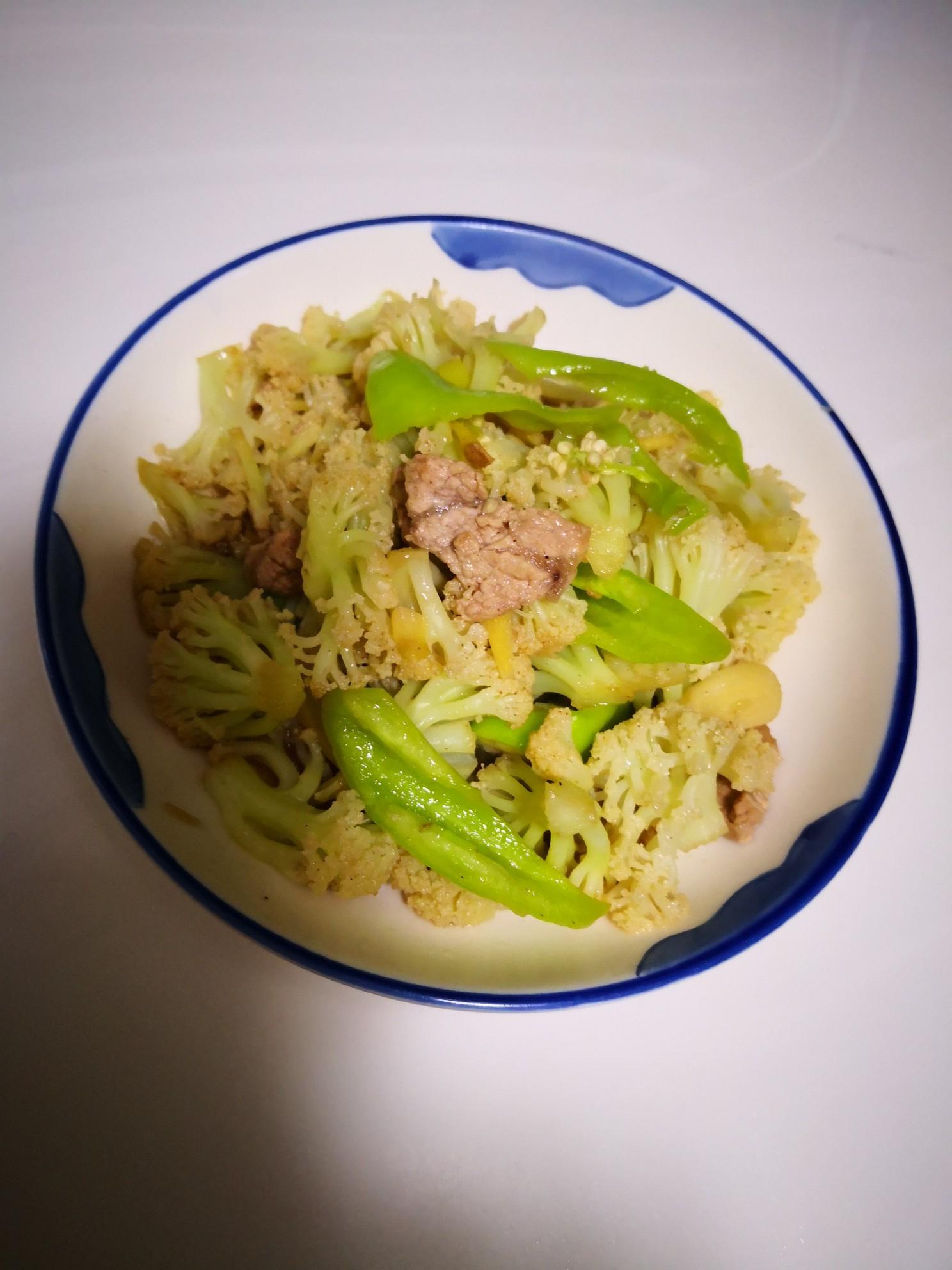 尖椒炒菜花怎么煮