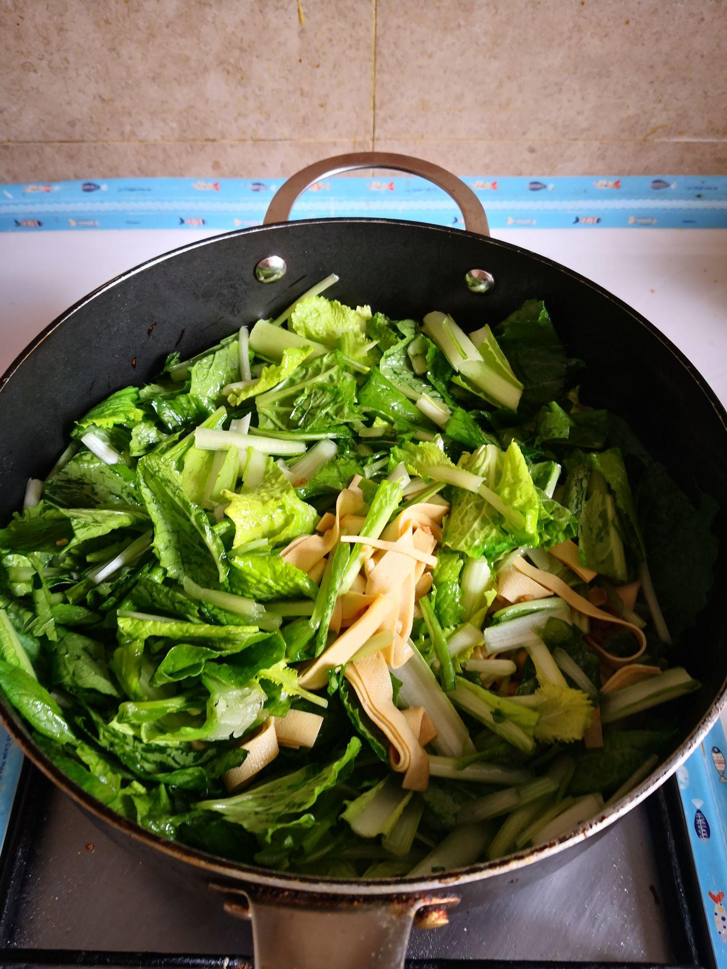 小白菜干豆腐汤的简单做法
