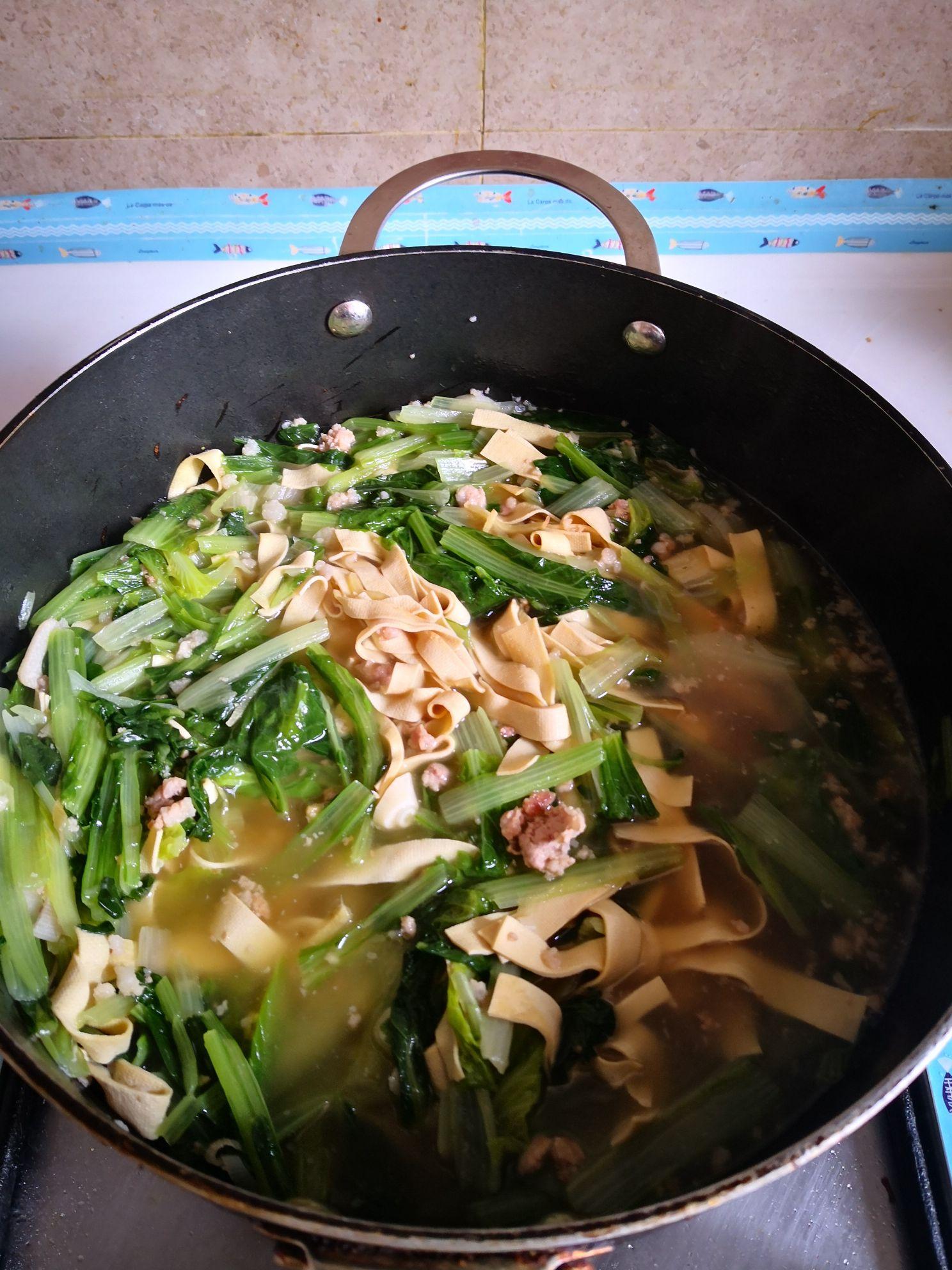 小白菜干豆腐汤怎么做