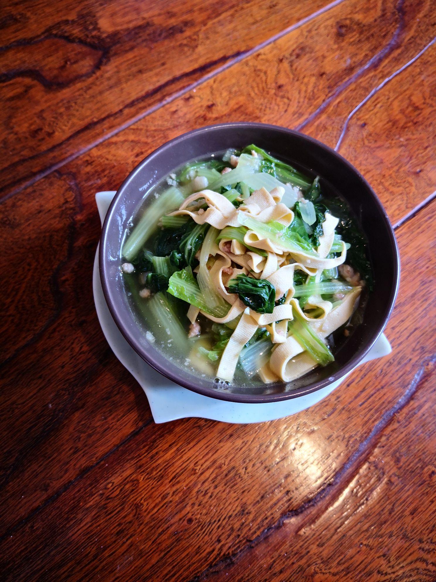 小白菜干豆腐汤怎么炒