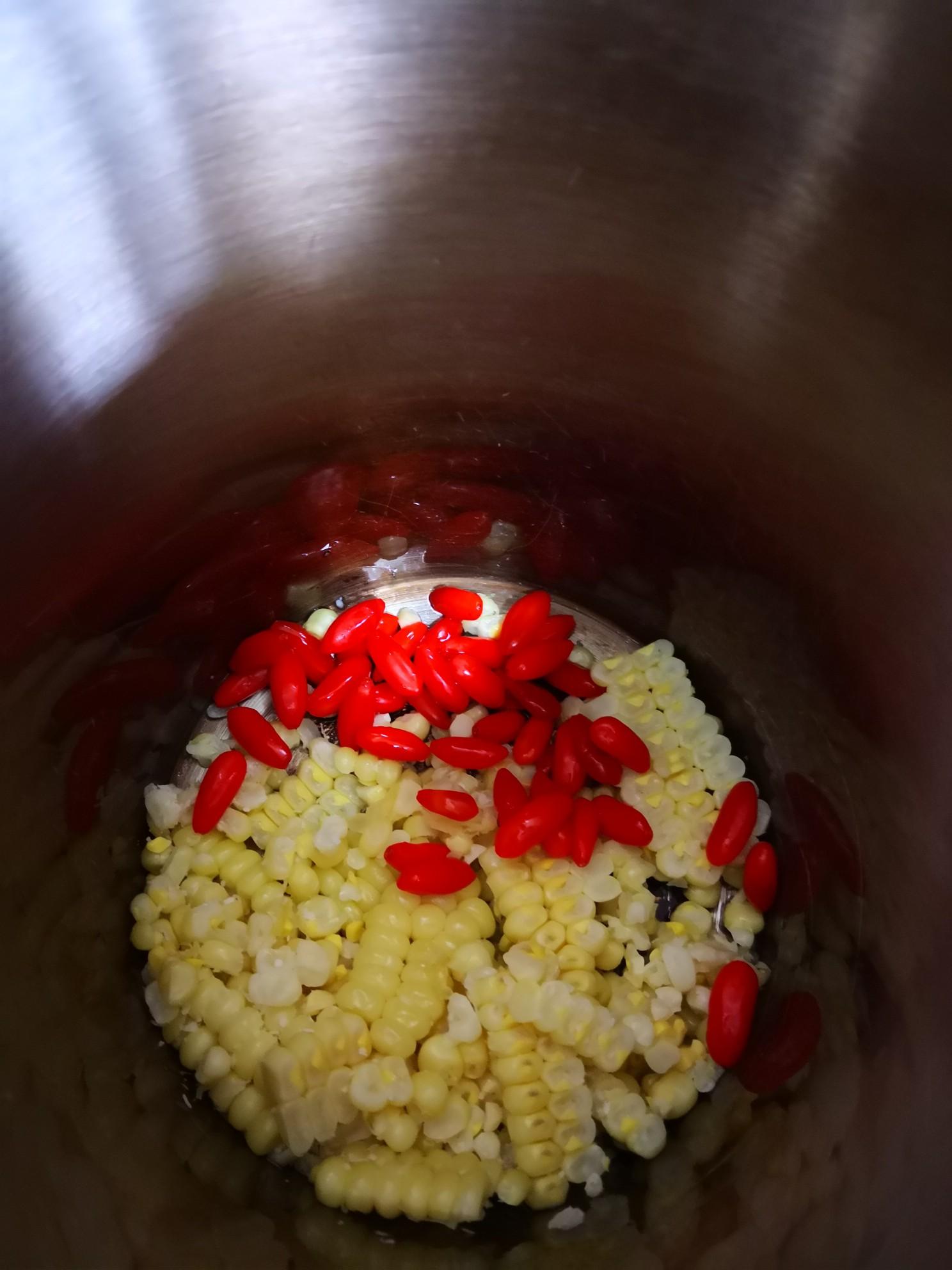 苞米枸杞糊的简单做法