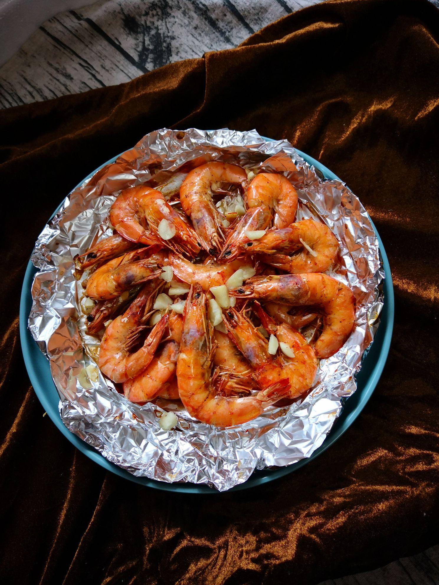 蒜香烤大虾的简单做法