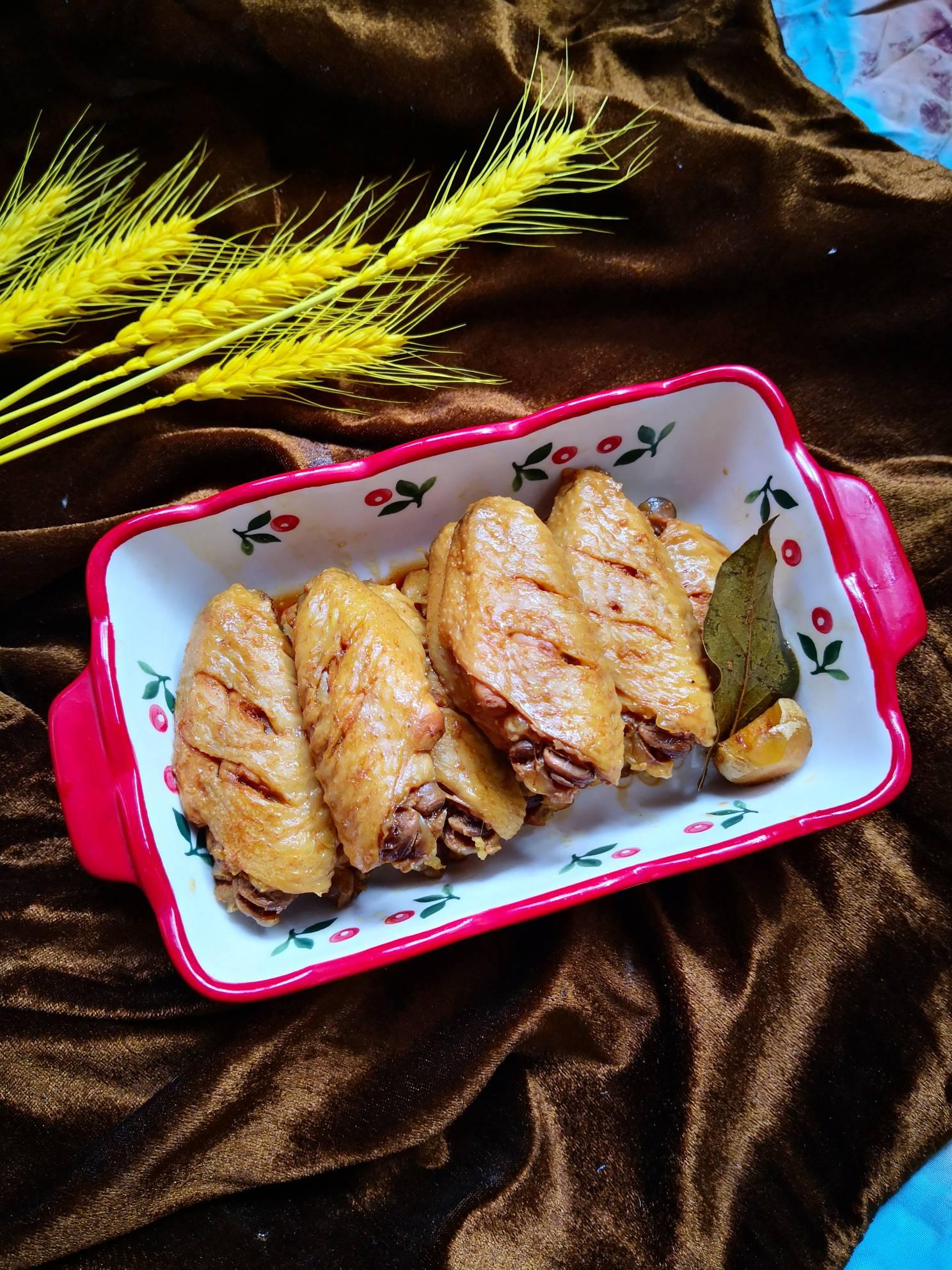 咖喱雞翅成品圖
