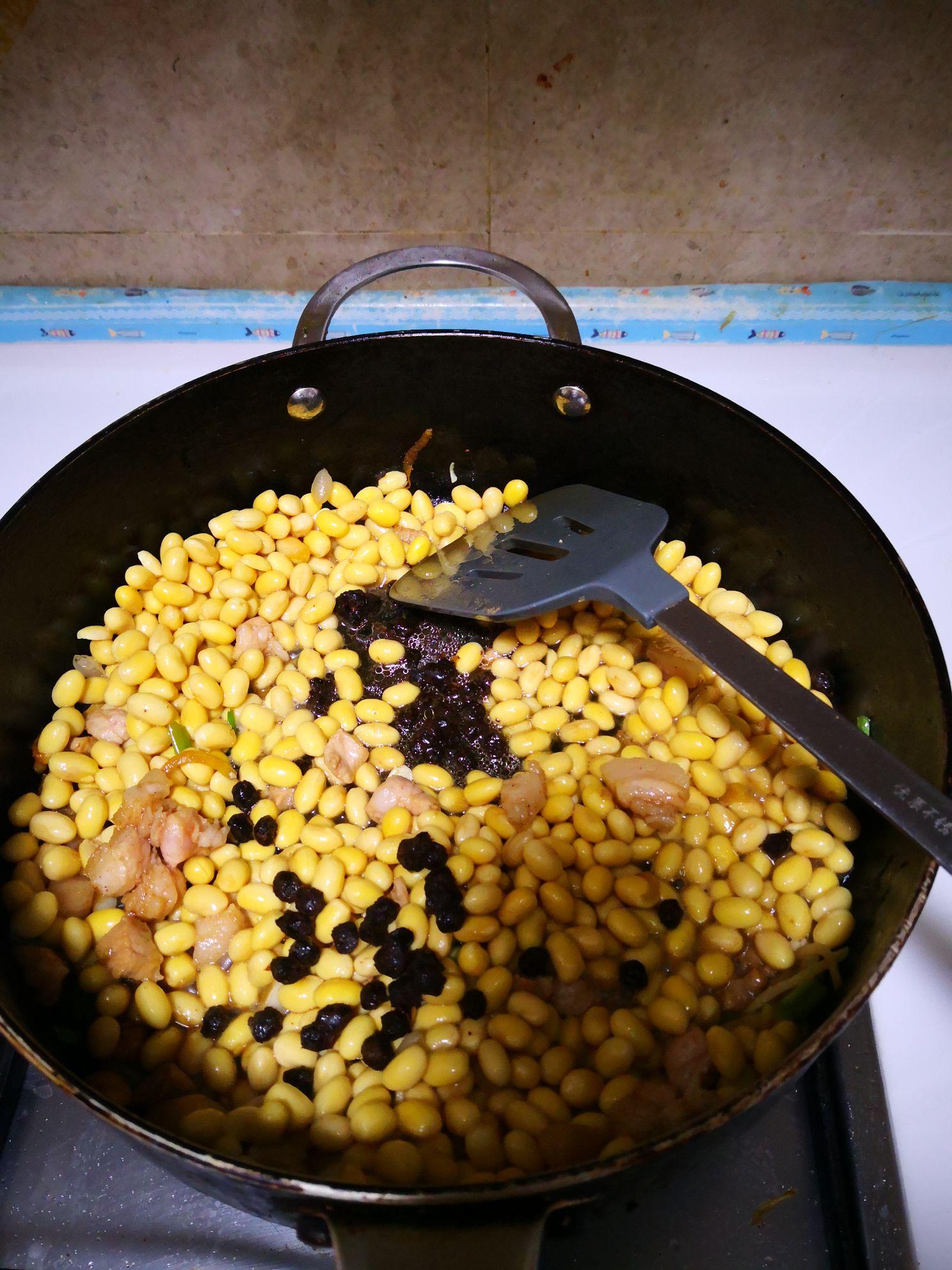 豆豉炒黄豆怎么做