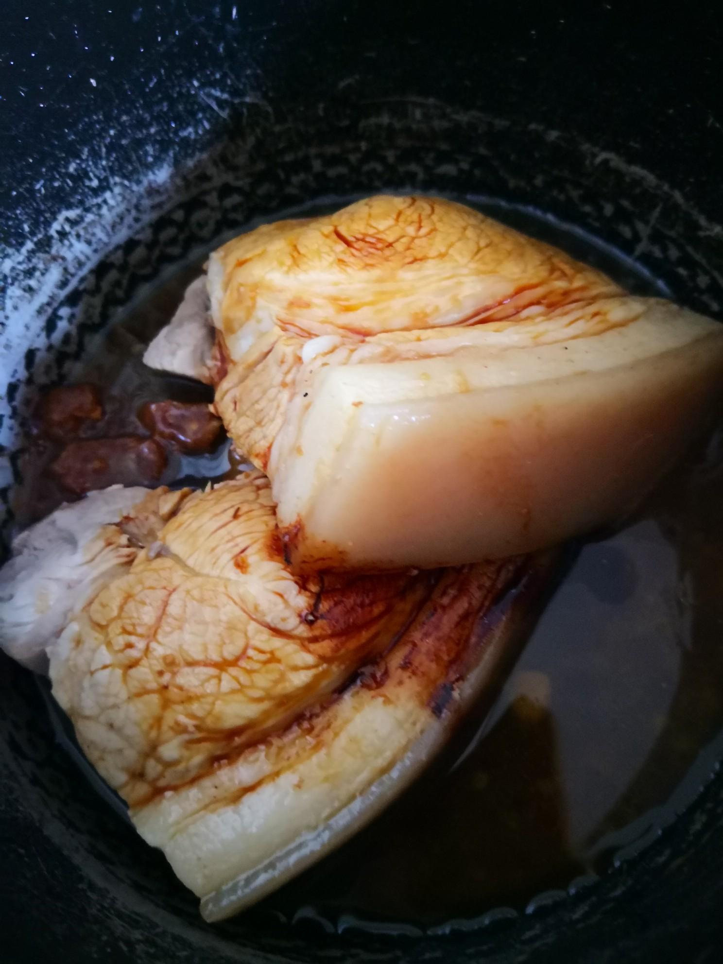 老汤黄豆后丘肉的步骤