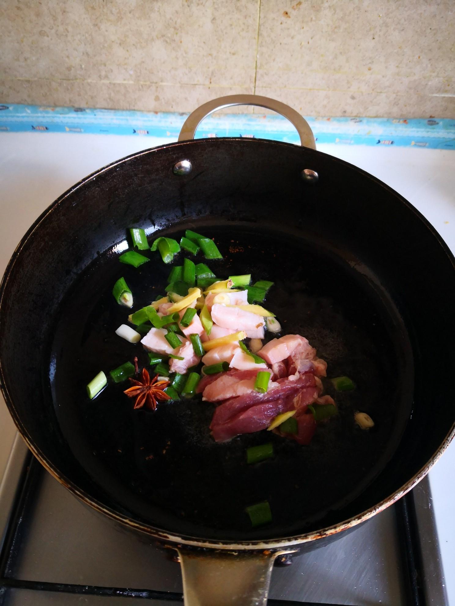 红薯炖黄金豆的简单做法