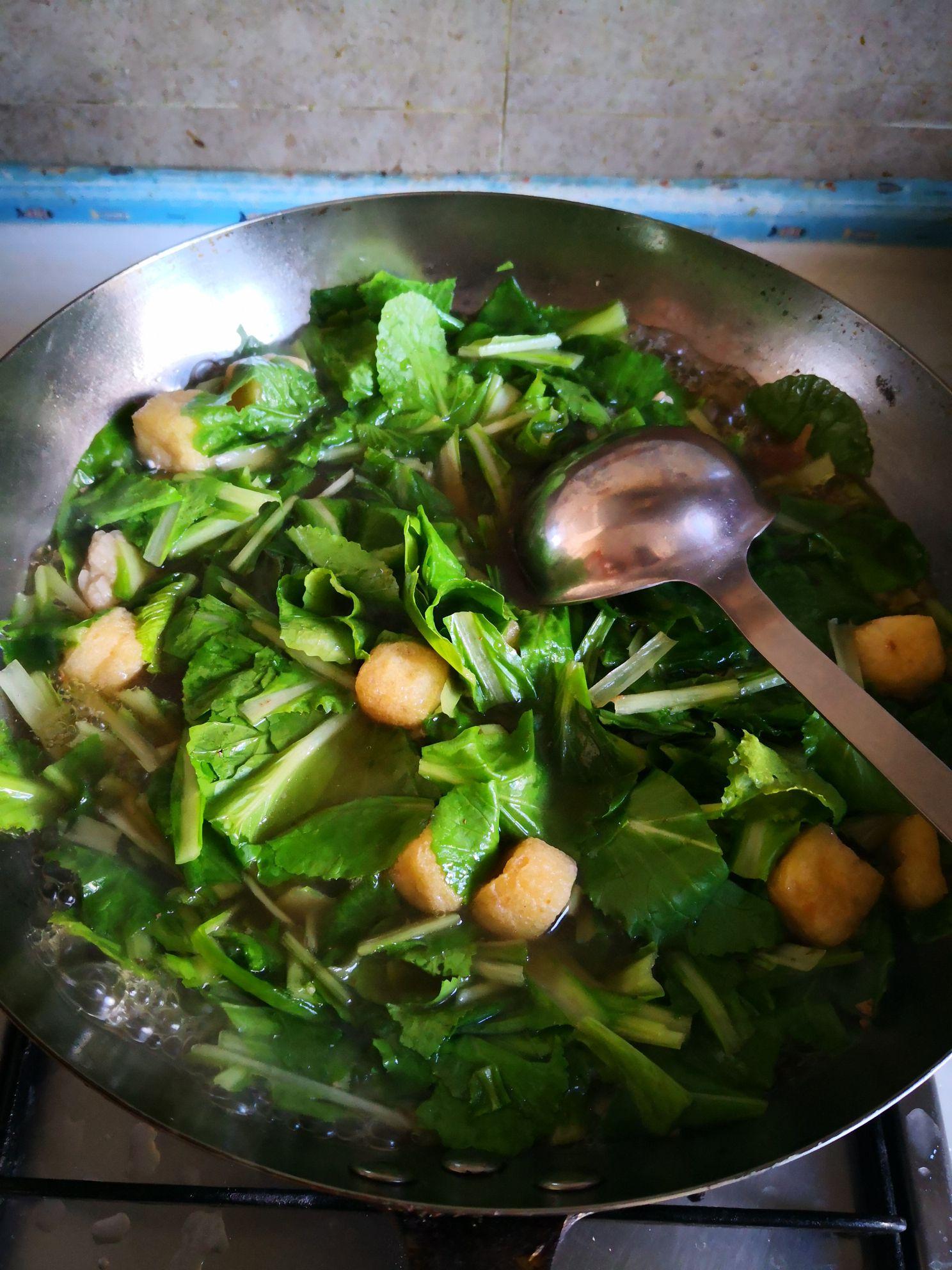 小白菜炖豆腐怎么吃