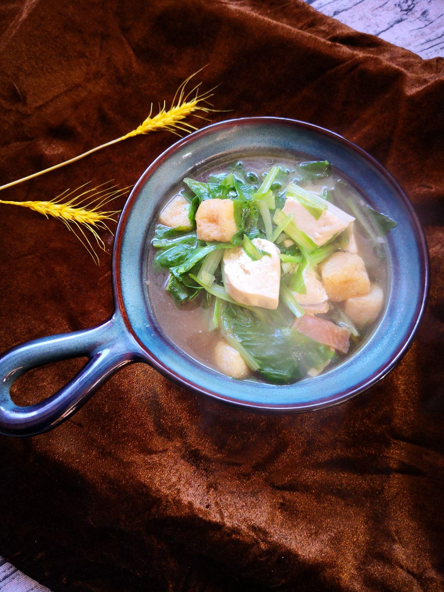 小白菜炖豆腐怎么炒