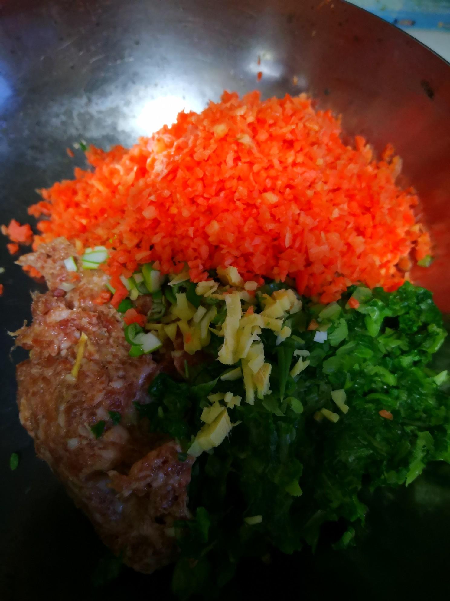 胡萝卜小白菜水饺的做法图解