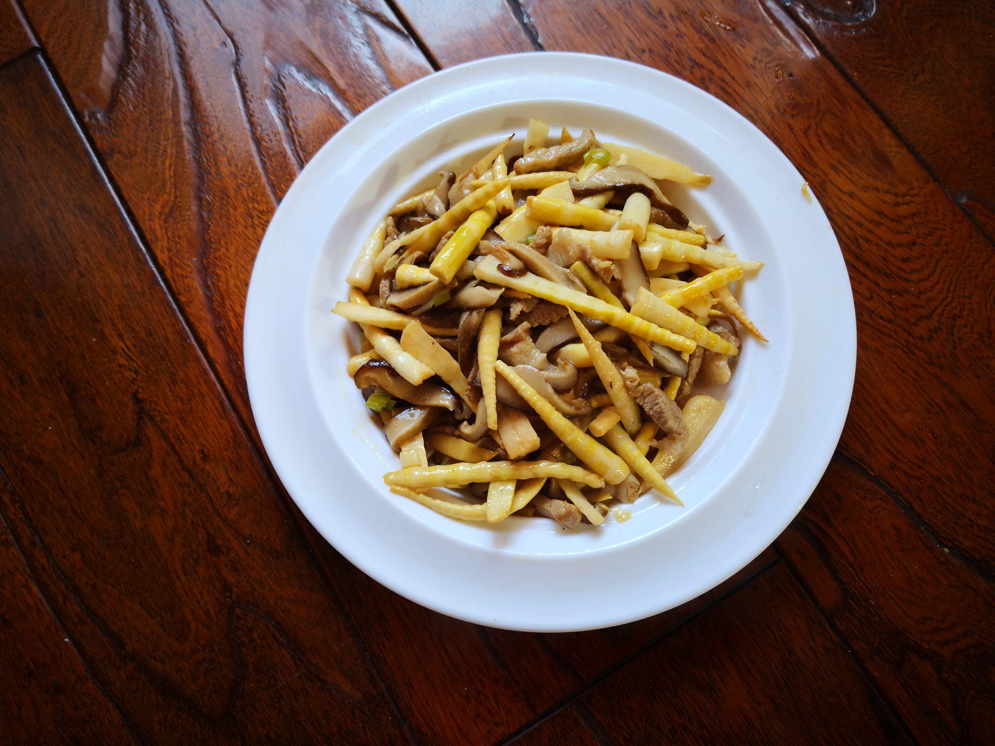 肉丝炒香菇笋丝怎么煮