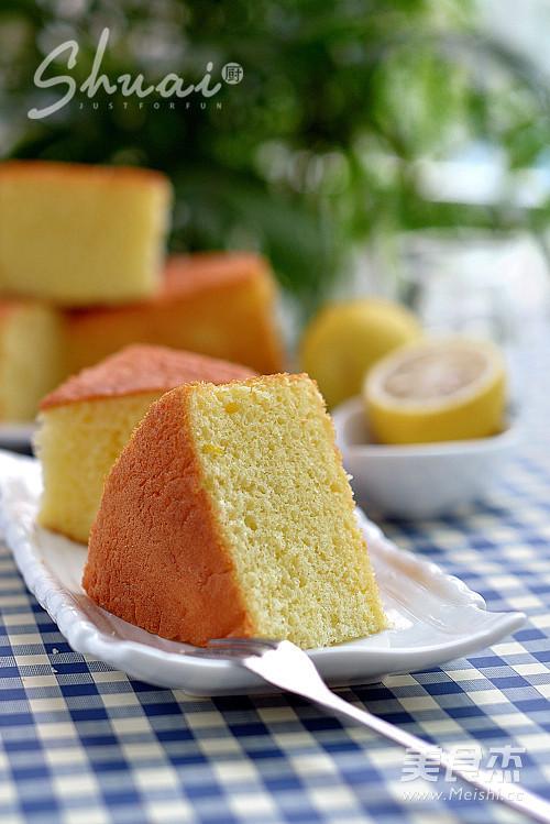 海绵蛋糕成品图