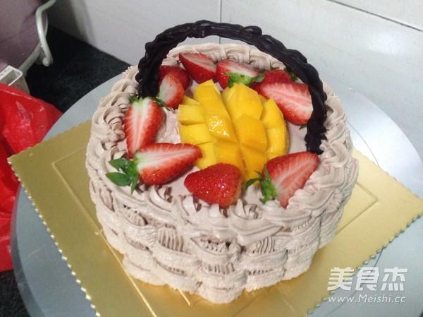 水果奶油生日蛋糕怎么煸