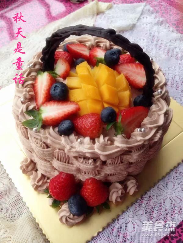 水果奶油生日蛋糕成品图