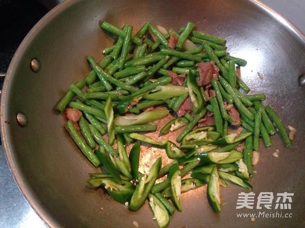 尖椒肉片豆角怎么炒