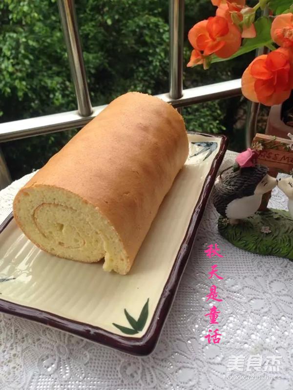 蛋糕卷成品图