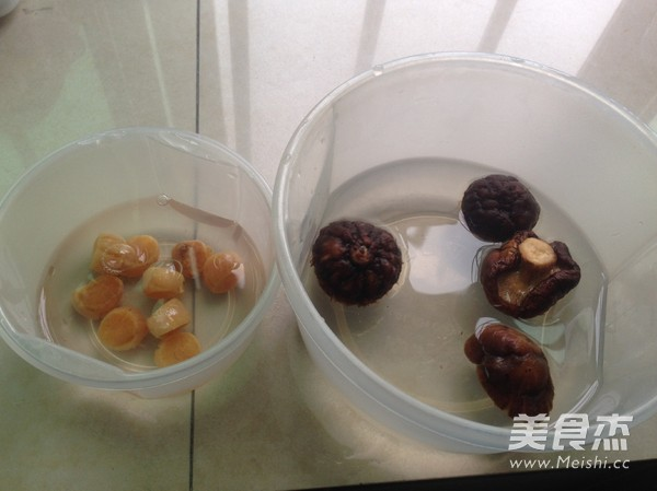 瑶柱冬菇肉蓉粥的简单做法