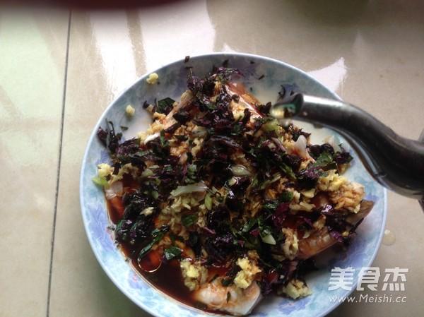 紫苏蒸鱼腩的步骤