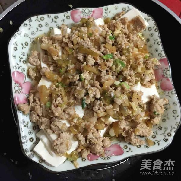 榨菜肉末蒸豆腐怎么炒