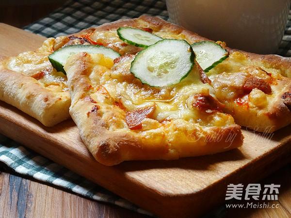 免揉披萨的制作