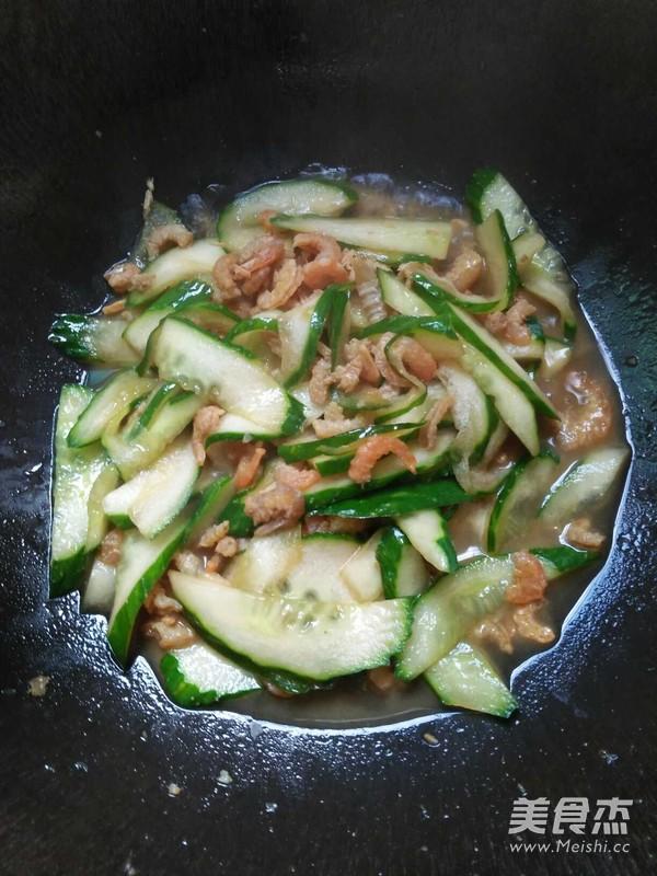 虾米炒黄瓜的家常做法