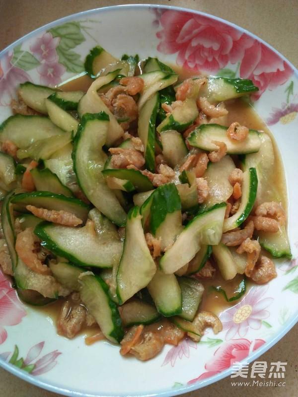 虾米炒黄瓜的简单做法