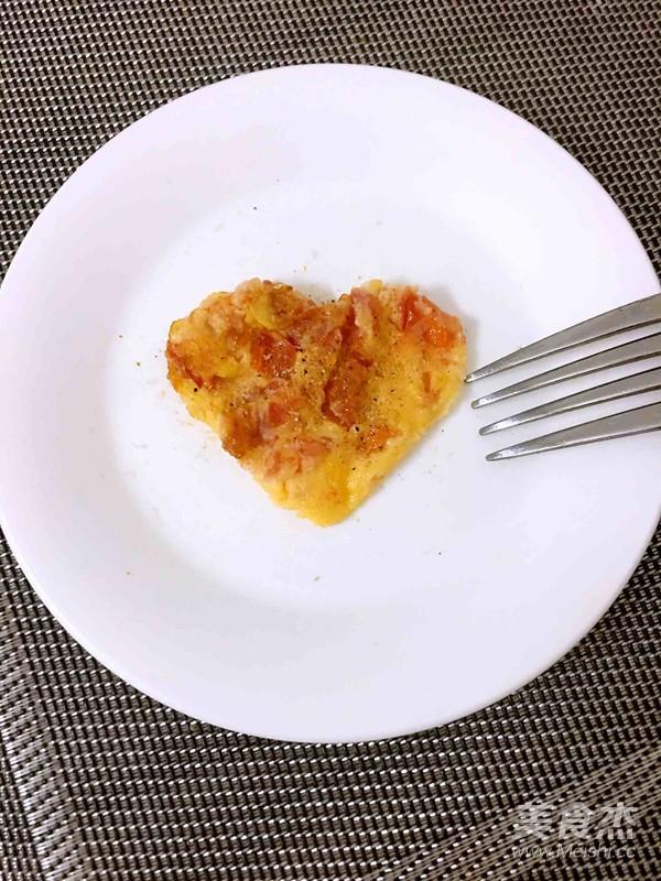 西红柿鸡蛋饼的步骤