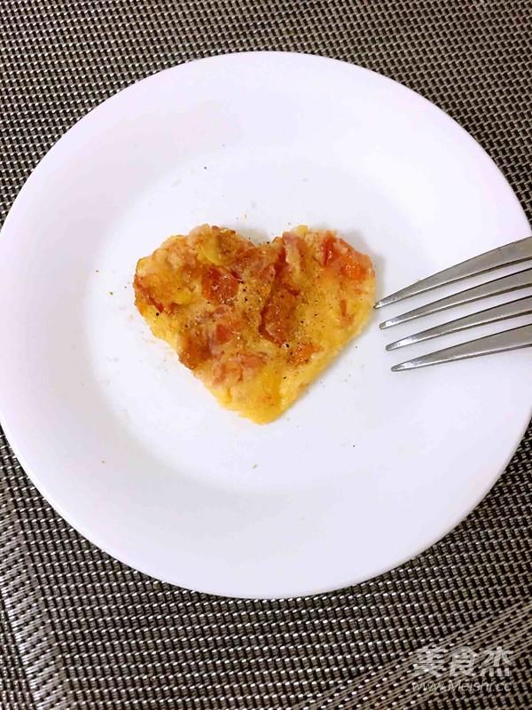 西红柿鸡蛋饼成品图