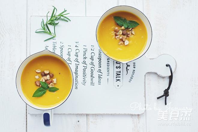 榛子南瓜汤的简单做法