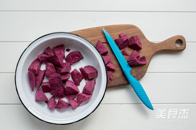 粽子紫薯米糊的做法图解