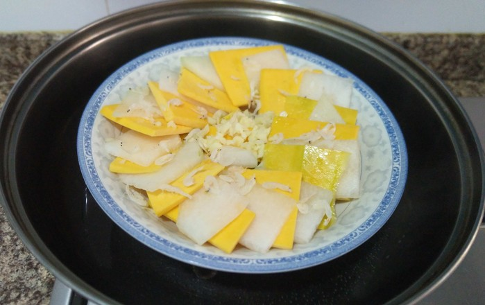 虾米蒸双瓜怎么吃