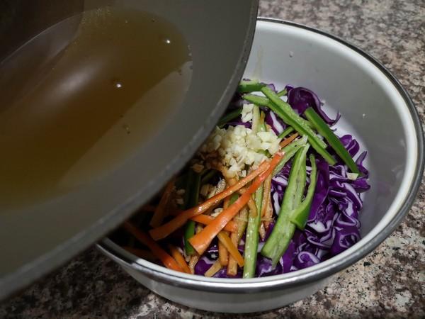 凉拌紫甘蓝怎么炒