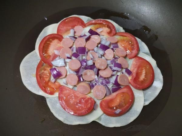 饺子皮披萨的简单做法