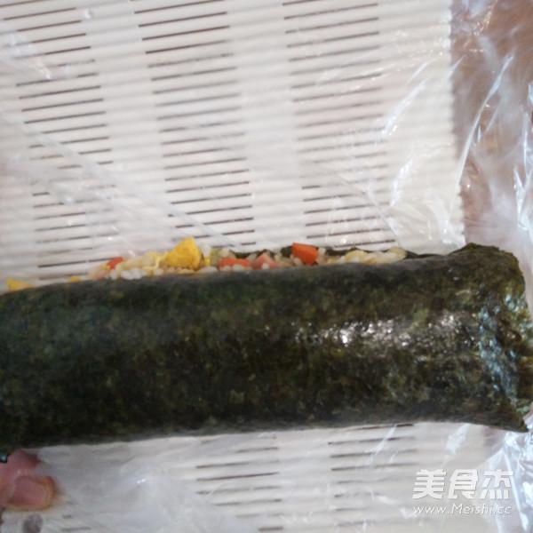 紫菜包炒饭怎样煸