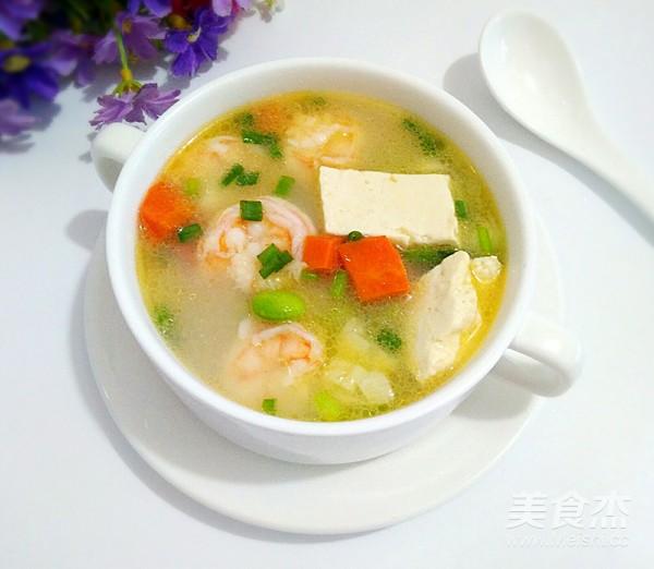 虾仁豆腐汤成品图