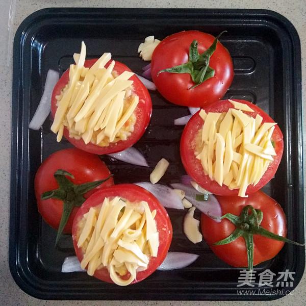 西红柿米饭盅怎么做