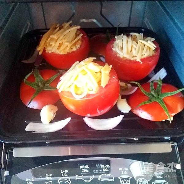 西红柿米饭盅怎么炒