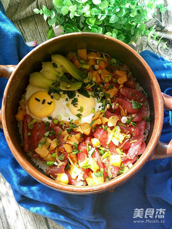 砂锅腊肠焗饭的做法大全