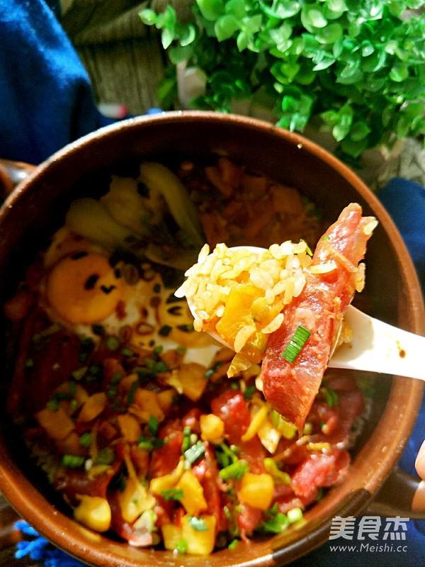 砂锅腊肠焗饭的做法图解