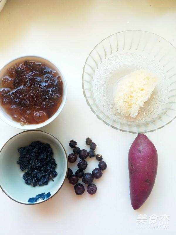 深秋养生一碗黑白配----银耳黑葡萄酸枣羹的做法图解
