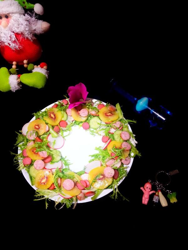 花环沙拉的做法图解